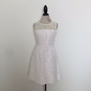 The Limited Lace Top Dress Off White Cream 8